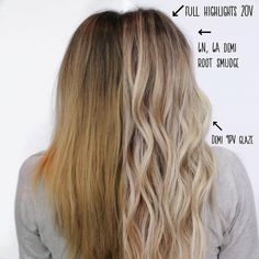 Just trying something new with my before & after shots. Do you guys like this type of breakdown? Redken Hair Color, Hair Color Balayage, Kenra Color, Healthy Blonde Hair, Blonde Foils, Blonde Hair Looks, Brown Hair Dyed Blonde, Redken Hair Products, Hair Color Formulas