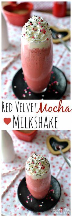 Red Velvet Mocha Milkshake | Lemon Tree Dwelling