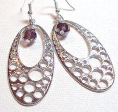 Earrings Chandelier Zen Crystal Rainbow AB Czech Faceted Oval Bubble Silver FREE SHIPPING. $5.95, via Etsy.