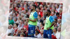 Arsenal stars Alexandre Lacazette Olivier Giroud and Laurent Koscielny put Liverpool humiliation