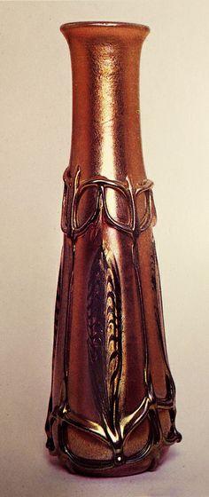Tiffany glass vase.