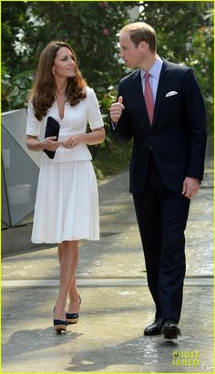 Prince William & Duchess Catherine Visit Garden by the Bay in Singapore on September 12h