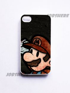 Mario - iphone 4 case iphone 4s case iphone 4 hard case ihone 4 cover for apple iphone 4 iphone 4s. $14.50, via Etsy.