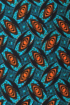 African wax block print fabric African Fabric House 095-15