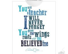 Teacher Appreciation Personalized Print from by AgasBoxOfMiracles