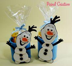 como fazer lembrancinha aniversario frozem  boneco Olaf porta guloseima EVA e latinha criancas festinha infantil (2)
