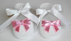Baby Baptism Shoes  Wedding  Flower Girl Booties by KayLaneSisters, $29.95