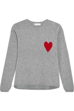 Gray and red wool and cashmere-blend Slips on 70% wool, 30% cashmere Hand wash or dry clean