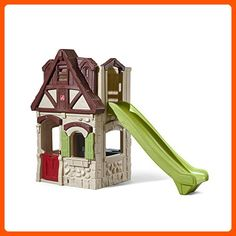 Playhouse & Slide by is one of most popular Outdoor Play products for children. View and shop now! Toddler Playhouse, Playhouse With Slide, Plastic Playhouse, Build A Playhouse, Indoor Forts, Playhouse Outdoor, Outdoor Toys, Outdoor Play, Outdoor Living