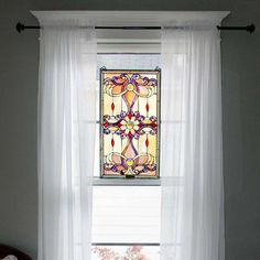 River of Goods Brandi's Tiffany Style  Stained Glass Window / Wall Panel