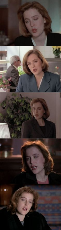 Pausing The X-Files when Dana Scully is on the screen will nearly always result in this face.