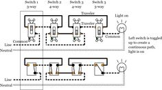 3 way and 4 way switch wiring for residential lighting carpentry home electrical wiring 4 - Floor plan light switch ...