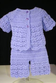 Sweater, Skort, Knickers, Hat, Booties