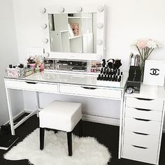 "810 Likes, 28 Comments - VANITY COLLECTIONS (@vanitycollections) on Instagram: ""LOVING our divider sets which provide storage for both the IKEA Alex 5 and 9 drawer units. .…"""