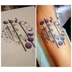 Check out some amazing moon tattoos by A.R.T. instructors and graduates!