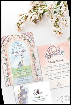 Hand-Painted Art for Your Wedding Learn more about hiring the artist Allison for your custom artwork.#Cinderella #Invitation #Inspired #Wedding #Disney wedding invitations with pictures Cinderella Inspired Disney World Wedding Invitation Suite 37+ Wedding Invitations With Pictures Disney World Wedding, Wedding Invitations With Pictures, Hand Painting Art, Wedding Invitation Suite, Cinderella, Hand Painted, Inspired, Frame, Artist