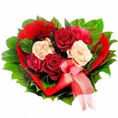 Valentinstag Blumen Blumenstrauß Verschicken Rosa Weiß | Valentines |  Pinterest | Ikebana And Flowers
