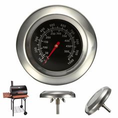 50~500℃ BBQ  Grill Meat Thermometer  Gauge Gage Cooking Food Household Kitchen Tools