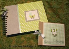 baby photo album with card