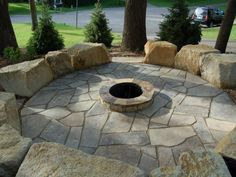 sandstone fire pit design - Google Search