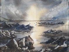 Watercolour painting tutorial featuring Brean Beach - YouTube