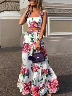 Fashion Sexy Women Printed Colour Braces High Waist Dress – maxi dress casual outfit,vacation maxi dress,womens long maxi dress,maxi dress summer casual,floral maxi dress Source by EBUYCHIC dresses Maxi Dress Summer, Casual Summer Dresses, Floral Maxi Dress, Maxi Dresses, Long Summer Skirts, Backless Dresses, Dresses Dresses, Dress Prom, Bride Dresses