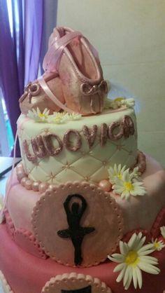 Scarpette danza classica cake