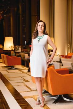 Nita Ambani, the wife of India's richest person Mukesh Ambani has several achievements. Let's take a look at personal and professional life of Nita Ambani. Western Dresses, Western Outfits, Indian Dresses, Indian Outfits, Nita Ambani, Ethnic Fashion, Womens Fashion, Brunch Outfit, Indian Jewellery Design