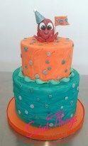 Glitter octopus cake - sweetthingsbywendy.ca Octopus Cake, Let Them Eat Cake, Birthday Cake, Glitter, Cakes, Sweet, Desserts, Food, Food Cakes
