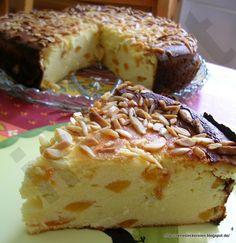 Quark-Aprikosen-Kuchen ohne Boden
