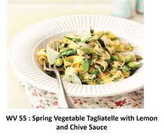 Spring Vegetable Tagliatelle with Lemon and Chive Sauce
