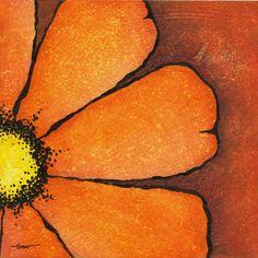 Swash of Color: Dark Orange Flowers