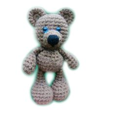 I saw this huggy bear and it reminded me of the story I used to tell my children when they were small about Fuzzy Wuzzy the Bear. This is the perfect accompaniment for the story. Maybe you can make up your own story with this crochet Little Bigfoot Bear (free amigurumi easy pattern) Maybe a Bedtime Bear story and make him a little blanket.......¯\_(ツ)_/¯