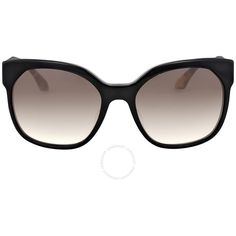 Prada Catwalk Voice Black/grey Gradient Sunglasses PR 10RSF-1AB0A7-57 ($160) ❤ liked on Polyvore featuring accessories, eyewear, sunglasses, prada sunglasses, prada glasses, prada eyewear and prada