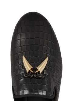 a9561d520df Giuseppe Zanotti Kevin crocodile-effect leather loafers - Harvey Nichols  Harvey Nichols