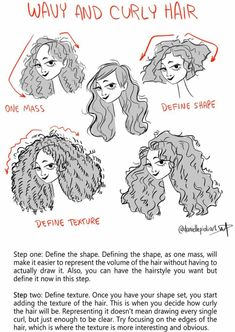 Wavy and curly hair