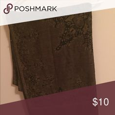 Fashion Scarf Olive with Paisley Print Fashion scarf, olive color with paisley print used only once! Accessories Scarves & Wraps