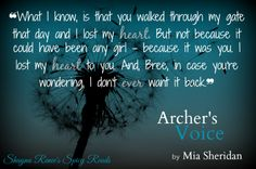 Archer's Voice by Mia Sheridan <3