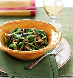 Stir-Fried Tofu with Mushrooms, Sugar Snap Peas, and Green Onions Recipe | Epicurious.com