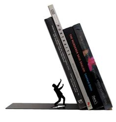 Spice Up That Boring Bookshelf And Make Your Books Stand Out With The Falling Books Bookend.