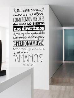 Vinilo de Normas de la casa, para que la convivencia sea mas facil... ;P