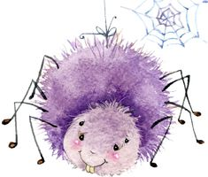 Păianjenul NuPot – O poveste magică Halloween Cartoons, Halloween Drawings, Spider Drawing, Spider Art, Art And Illustration, Watercolor Illustration, Watercolor Art, Watercolor Background, Cute Animal Drawings