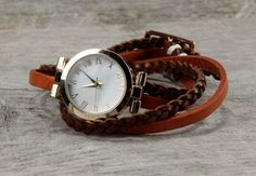 Braid and Strap Leather Wrap Watch http://www.irenesstory.com/p/3413/braid-and-strap-leather-wrap-watch?cid=71#.Uk24dBZ96-I