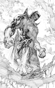 Black Panther pencil art by Philip Tan ( Marvel comics) Comic Book Artists, Comic Book Characters, Comic Book Heroes, Comic Artist, Comic Books Art, Black Panther Marvel, Black Panther Art, D Mark, Black And White Comics