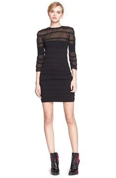 Alexander McQueen Illusion Yoke Knit Dress