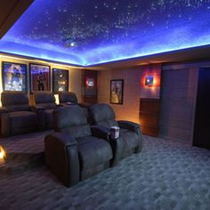 A Cosmic Star Ceiling is created using some simple pieces of equipment and special glow paint.