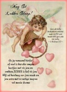 Evening Greetings, Good Night Greetings, Birthday Qoutes, Sister Poems, Goeie Nag, Goeie More, Love My Sister, Afrikaans Quotes, Special Quotes
