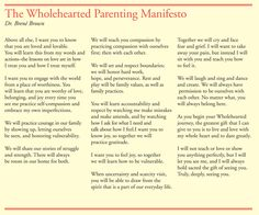 """""""The Wholehearted Parenting Manifesto"""" from thesilverpen.com **This is amazing! My hopes and dreams for Bowen put into words better than I ever could hope to do...**"""