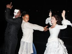 bahaha norm lewis and sierra boggess backstage at phantom of the opera
