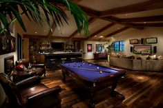 Browse photos of Basement Rec Room ideas. Find ideas and inspiration for Basement Rec Room to add to your own home. See more ideas about Game room basement, Game room and Finished basement bars Man Cave Basement, Man Cave Garage, Basement Bars, Game Room Basement, Basement Pool, Basement Ceilings, Basement Ideas, Pool Table Room, Pool Tables